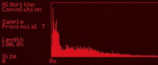 Het lineaire geluid van een ruimte